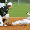Globe/Roger Nomer<br /> Willard's Trevor Bowling tags Joplin's Chris Leonardi on a steal attempt during Friday's game.