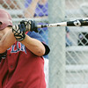 Globe/Roger Nomer<br /> Joplin's Adam St. Peter hits an in the park grand slam during Thursday's game against Lebanon.