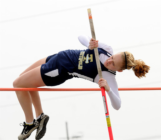 Teutopolis' Rachel Westendorf clears the bar during the Teutopolis Invitational.