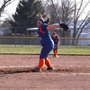 Newton's Karsyn McCoy winds and delivers against the Dieterich Movin' Maroons in Newton. McCoy threw a complete-game, two-hit shutout while striking out seven.