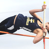 Teutopolis' Hannah Bueker clears nine feet on her attempt in the pole vault at Teutopolis Junior High School.