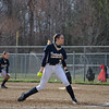 Teutopolis' Kadi Borries prepares to deliver a pitch to an unseen Sullivan batter.