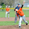 Altamont pitcher Garrett Ziegler releases a pitch during a game with St. Anthony at Altamont High School.