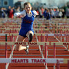 Newton's Carlie Webb wins the 2nd heat of the women's 100-meter hurdles at Effingham High School.