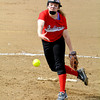 Neoga pitcher Bayley Neece follows through on her pitch in a 10-0 loss to Altamont.