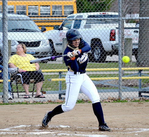 Teutopolis' Anni Borries begins her swing during a game against Sullivan, a 10-0 win for the Lady Shoes.
