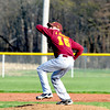 Dieterich pitcher Alex Bohnhoff fires a pitch during a loss at Newton High School.