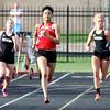 4-14-15<br /> Kokomo vs Western track<br /> Kokomo's Deju Miller in the 200 M dash.<br /> Kelly Lafferty Gerber | Kokomo Tribune