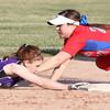 4-1-15<br /> Kokomo vs Northwestern softball<br /> Northwestern's Kindra Gingerich gets to second safely before Kokomo's Cathy Skaggs can get her out.<br /> Kelly Lafferty Gerber | Kokomo Tribune