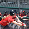 Effingham's Alissa Kersey drops a bunt in Effingham's 4-3 loss to Mattoon in the first game of a doubleheader.<br /> Chet Piotrowski Jr./Piotrowski Studios