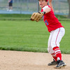 St. Anthony's second baseman Austin Kline makes the putout at first against Teutopolis.