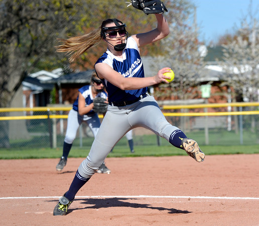 South Central's Abby King goes through her delivery during a loss at St. Anthony.
