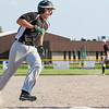 Altamont's Kaleb Whitt rounds third base for the Indians' only run during a 6-1 loss to Nokomis.