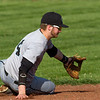 Cumberland shortstop Hayden Kanizer makes a sweeping grab on a hard ground ball during the top of the third inning.