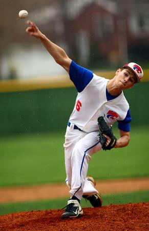 4-15-13<br /> KHS vs WHS Baseball <br /> Jacob McMain pitching.<br /> KT photo | Tim Bath