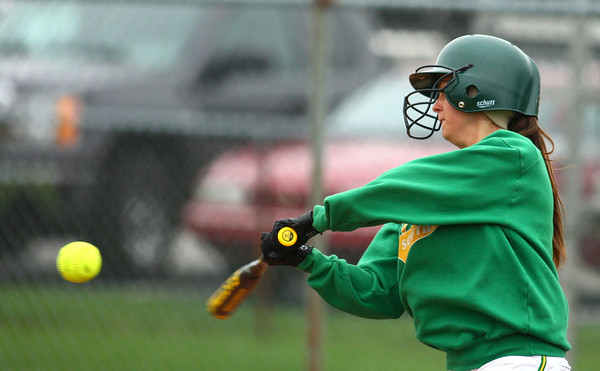 4-13-13<br /> Eastern and Taylor softball<br /> Lizzy Mavrick bats for Eastern.<br /> KT photo   Kelly Lafferty