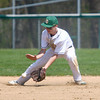4-26-14<br /> Eastern vs. South Adams baseball<br /> Eastern's Zach Robinson scoops up the ball.<br /> Kelly Lafferty | Kokomo Tribune