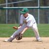 4-26-14<br /> Eastern vs. South Adams baseball<br /> Eastern's Zach Robinson scoops up the ball.<br /> Kelly Lafferty | Kokomo Tribune