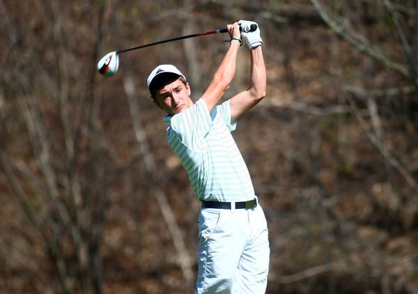 4-23-14<br /> Western vs. Taylor golf<br /> Western 1 Tyler White<br /> Kelly Lafferty | Kokomo Tribune