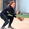 4-24-14<br /> Western vs. Northwestern softball<br /> Western's Caitlyn O'Neal scoops up the ball.<br /> Kelly Lafferty | Kokomo Tribune