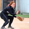 4-24-14<br /> Western vs. Northwestern softball<br /> Western's Caitlyn O'Neal scoops up the ball.<br /> Kelly Lafferty | Kokomo Tribune