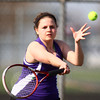4-18-14<br /> Northwestern tennis<br /> 1 Singles Emily Harshman<br /> Kelly Lafferty | Kokomo Tribune
