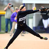 4-24-14<br /> Western vs. Northwestern softball<br /> Western's Erika Beeler pitches.<br /> Kelly Lafferty | Kokomo Tribune