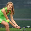 4-21-14   --- Eastern HS Tennis vs Northfield.  EHS's Riley Kanable playing #2 singles. -- <br />   Tim Bath | Kokomo Tribune