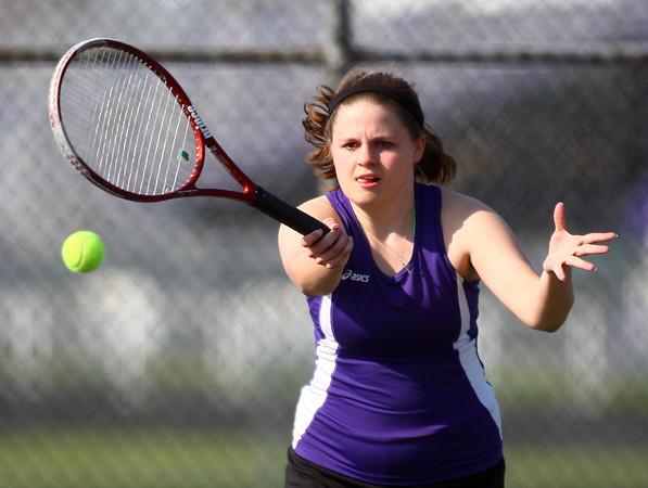 4-18-14<br /> Northwestern tennis<br /> 1 Singles Emily Harshman<br /> Kelly Lafferty | Kokomo Tribune