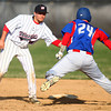 4-16-14<br /> Kokomo vs. Western baseball<br /> Western's Evan Warden gets Kokomo's Chase Pearce out on second.<br /> Kelly Lafferty | Kokomo Tribune