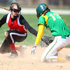 4-19-14<br /> Eastern vs. Taylor softball<br /> Eastern's Maddie Vint made it to second safely before Taylor's Savannah Delgado makes a tag.<br /> Kelly Lafferty | Kokomo Tribune
