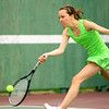 4-21-14   --- Eastern HS Tennis vs Northfield.  EHS's Claire Holkenbrink playing #3 singles. -- <br />   Tim Bath | Kokomo Tribune