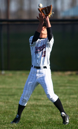 4-16-14<br /> Kokomo vs. Western baseball<br /> Western's Kyler Vail makes a catch.<br /> Kelly Lafferty | Kokomo Tribune