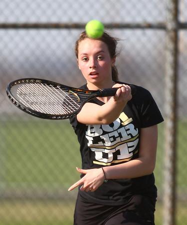 4-18-14<br /> Northwestern tennis<br /> 3 singles Lauren Miller<br /> Kelly Lafferty | Kokomo Tribune