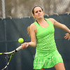 4-21-14   --- Eastern HS Tennis vs Northfield.  EHS's Courtney Clark playing #1 singles. -- <br />   Tim Bath | Kokomo Tribune