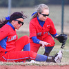 4-1-14<br /> Kokomo vs Lebanon softball<br /> Kokomo's Sarah Haughn and Alexis Clark miss a catch.<br /> KT photo | Kelly Lafferty
