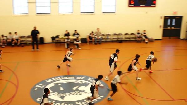 Aquinas JV Basketball 11-19-2013