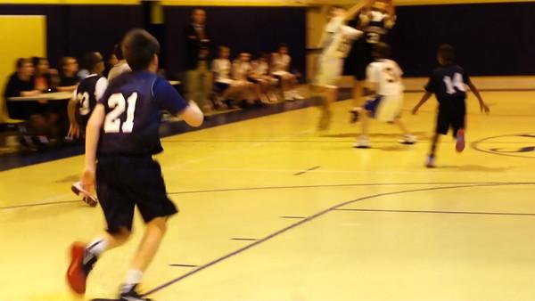 Aquinas JV Basketball 12-3-2013