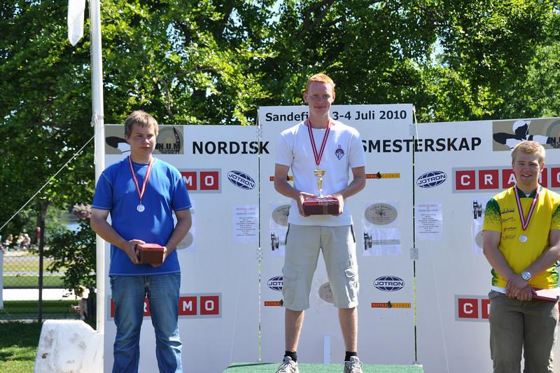 Martin K. Laursen øverst på podiet ved Nordisk Mesterskab.