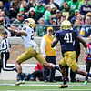 CHAD WEAVER | THE GOSHEN NEWS<br /> Notre Dame sophomore wide receiver Kevin Stepherson catches a deep pass during the first half of Saturday's Blue-Gold Game at Notre Dame Stadium.