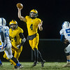 Panthers quarterback Jack Kiser (4) launches a pass in the second quarter. Pioneer defeated LaVille 38-0 in regional football action at the Pit on Friday night. Fran Ruchalski | Pharos-Tribune