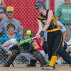 Pioneer freshman Madison Blickenstaff (14) smacks one to get on base in the Lady Panthers 1-0 victory over the Washington Lady Senators in the Regional Championship game on Tuesday evening. Fran Ruchalski | Pharos-Tribune