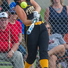 Pioneer junior Alexis Robinson (10) pops one up in the first inning of the Lady Panthers 1-0 victory over the Washington Lady Senators in the Regional Championship game on Tuesday evening. Fran Ruchalski | Pharos-Tribune