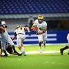 Jack Kiser runs down the middle to score in the 3rd quarter as Pioneer beats North Vermillion in the Class A State Finals 60-0 on Nov. 24, 2018 at Lucas Oil Stadium.<br /> Tim Bath | Kokomo Tribune