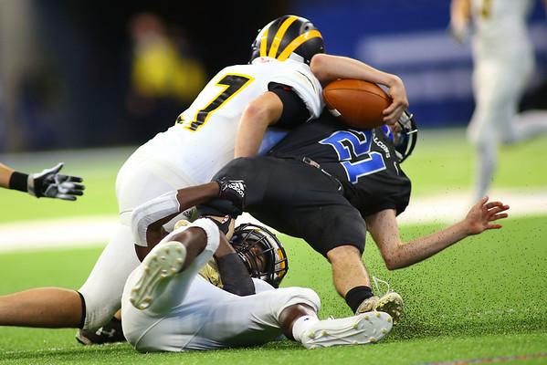 Pioneer beat North Vermillion in the Class A State Finals 60-0 on Nov. 24, 2018 at Lucas Oil Stadium.<br /> Tim Bath   Kokomo Tribune