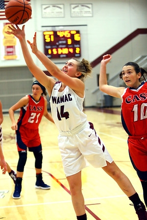 Winamac's Hailey Sanders puts up a shot in the 3rd quarter action of girls basketball between Winamac HS and Cass HS on Nov. 10, 2018. <br /> Tim Bath | Pharos Tribune