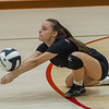Logansport junior Daima Fermoselle (6) goes to the floor to dig the ball out as the Lady Berries defeated the Lady Redskins of Knox in four sets on Wednesday night. Fran Ruchalski | Pharos-Tribune