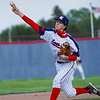 Lewis Cass Kings' Tyson Good (6) throws a pitch during the second inning of a game between the Lewis Cass Kings and Taylor Titans on Friday, May 7, 2021 in Walton.