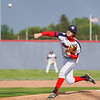 Lewis Cass Kings' Tyson Good (6) throws a pitch during the first inning of a game between the Lewis Cass Kings and Taylor Titans on Friday, May 7, 2021 in Walton.