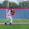 Lewis Cass Kings' Adam Bandelier (17) throws to first base during the second inning of a game between the Lewis Cass Kings and Taylor Titans on Friday, May 7, 2021 in Walton.
